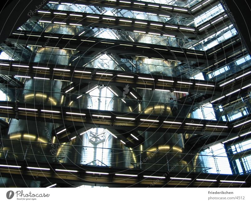insides Light Building Staircase (Hallway) Industrial Photography Industry Industrial construction Factory hall Steel Glass Heidelberg Printing machine