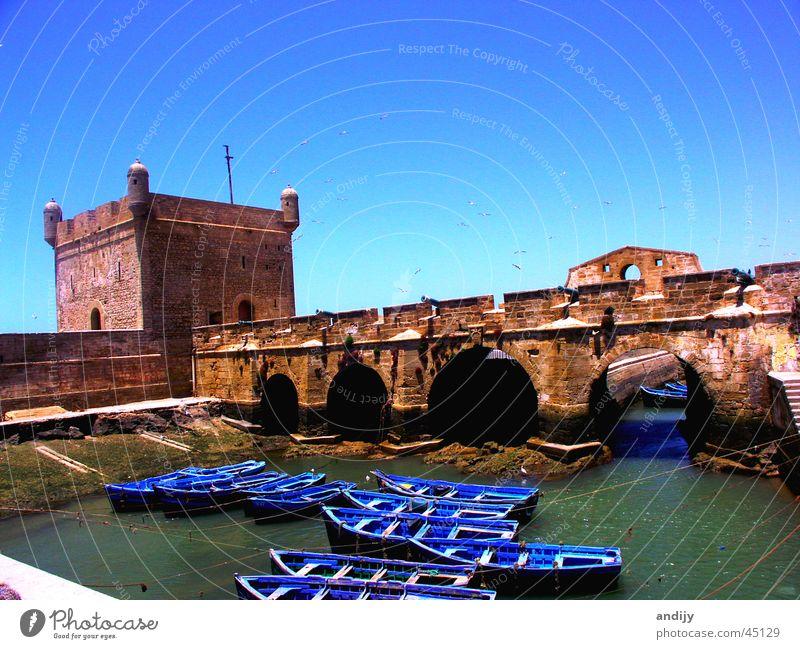 Moroccan port Watercraft Morocco Ocean Moral Harbour Bridge Sky Castle