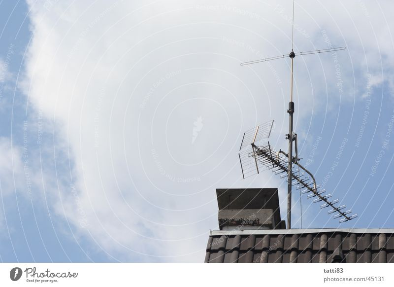 out of my window, Roof Antenna Clouds House (Residential Structure) Living or residing Sky Free