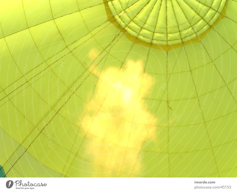 Yellow Warmth Blaze Cloth Physics Hot Air Balloon Flame