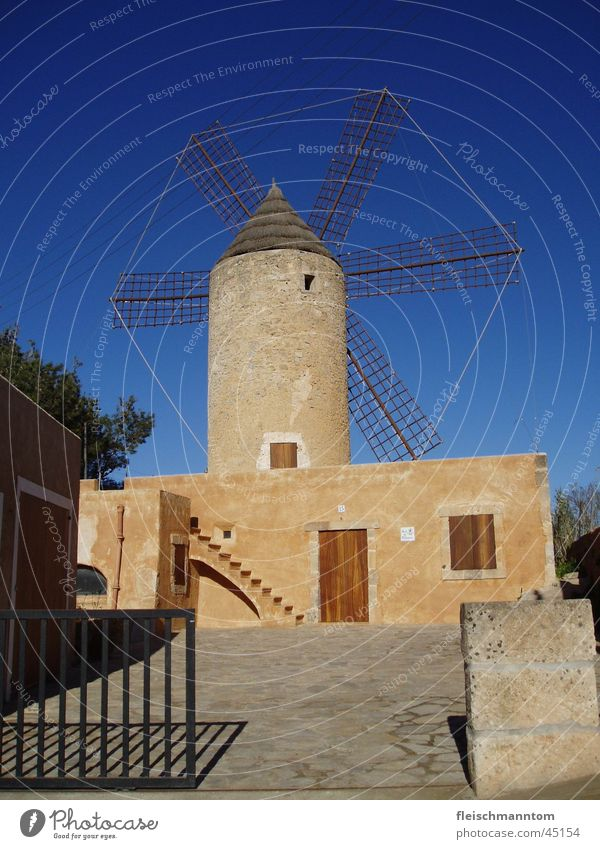 Windmill on Mallorca Majorca Architecture