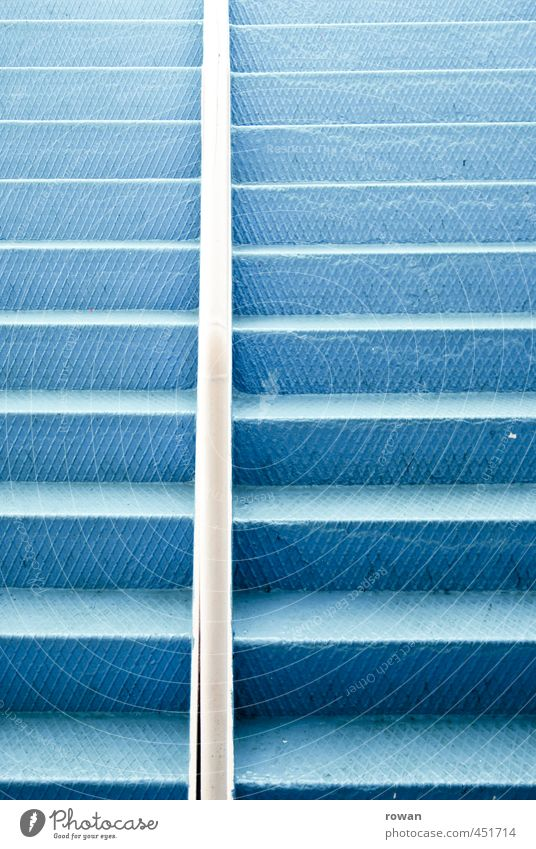 Blue Metal Stairs Steel Banister Upward Go up Tin Metal steps
