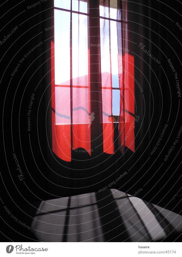 window Window Drape Light Red Moody Living or residing Shadow