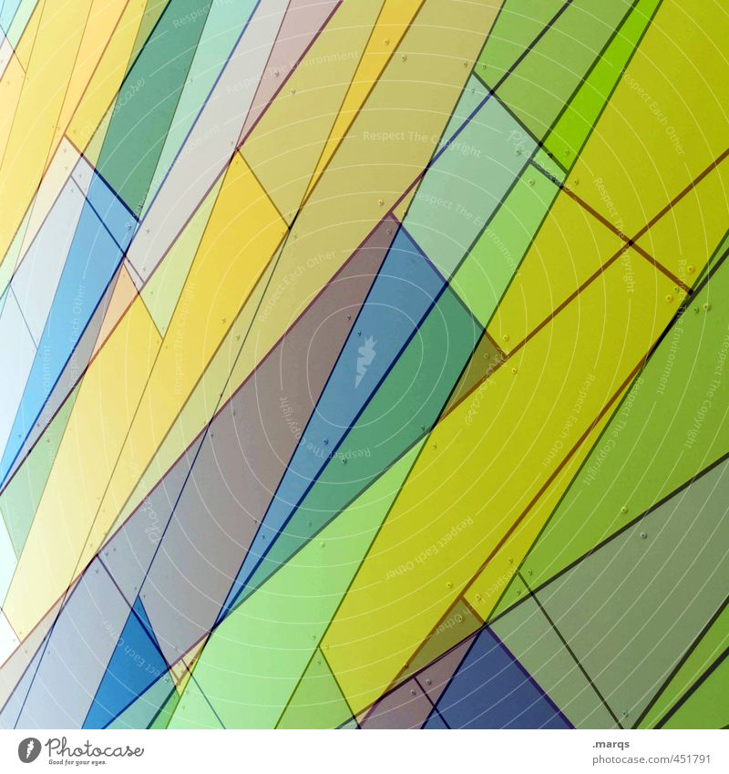 Blue Green Colour Yellow Style Background picture Lifestyle Exceptional Line Facade Design Modern Perspective Stripe Cool (slang) Hip & trendy
