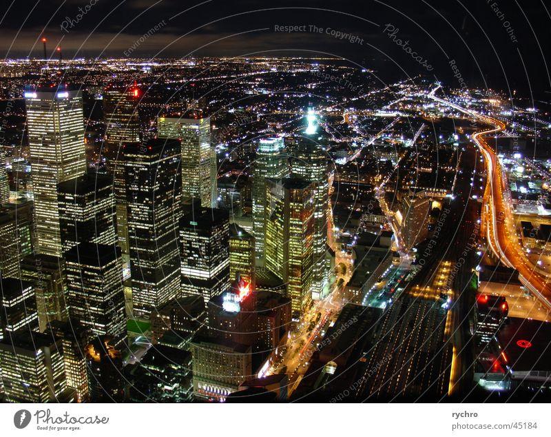 Toronto by night CN Tower Night High-rise North America Skyline