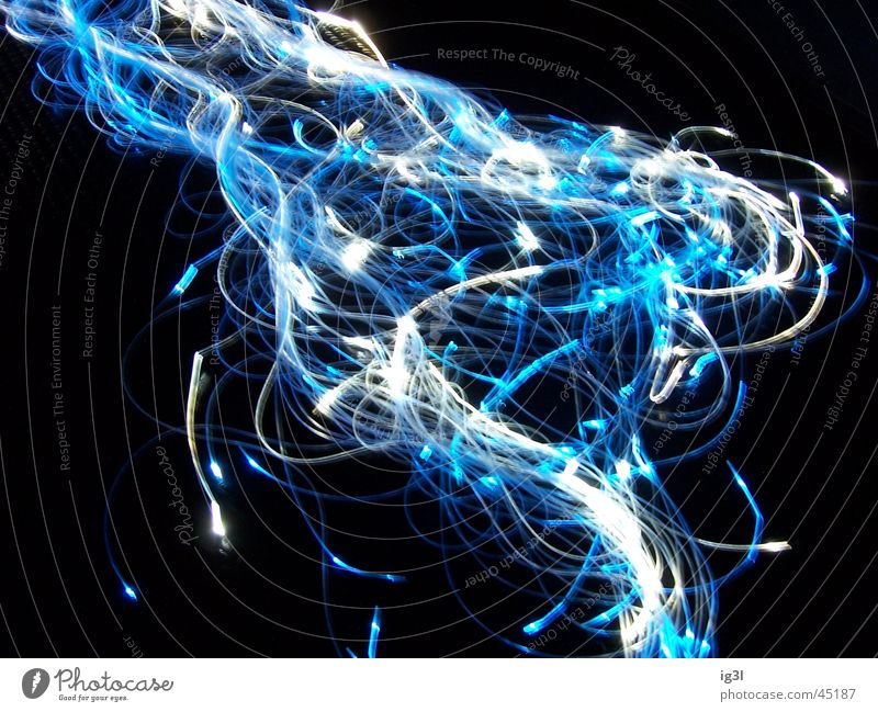 White Blue Colour Lamp Dark Waves Crazy Direction Curve Chaos Muddled Visual spectacle Reaction Glow Impression Whorl