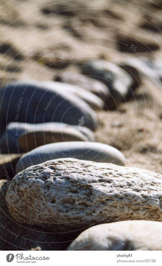 Beach Stone Sand Row