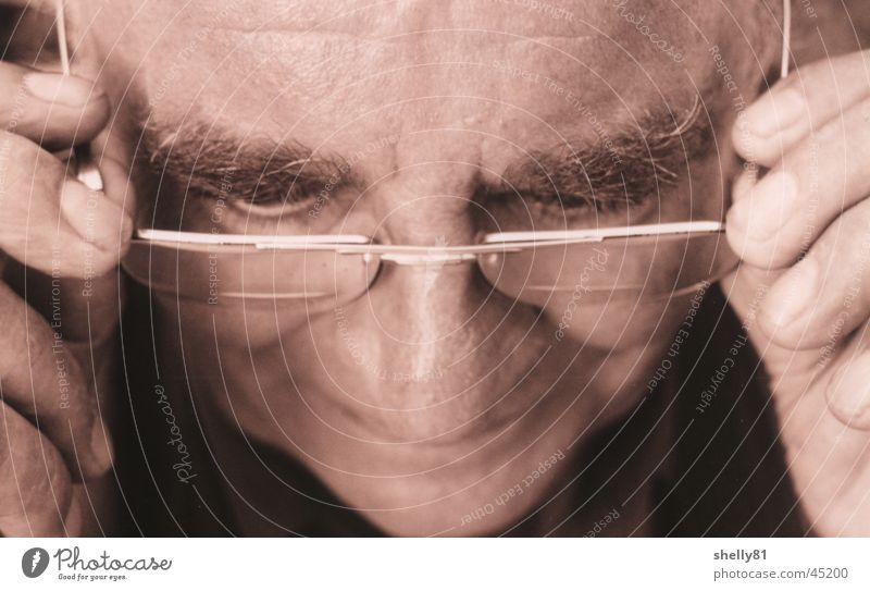 Man Face Senior citizen Reading Eyeglasses Grandfather Human being Male senior