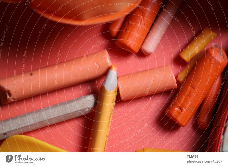 Orange Things Craft (trade) Pen Still Life Chalk Tray