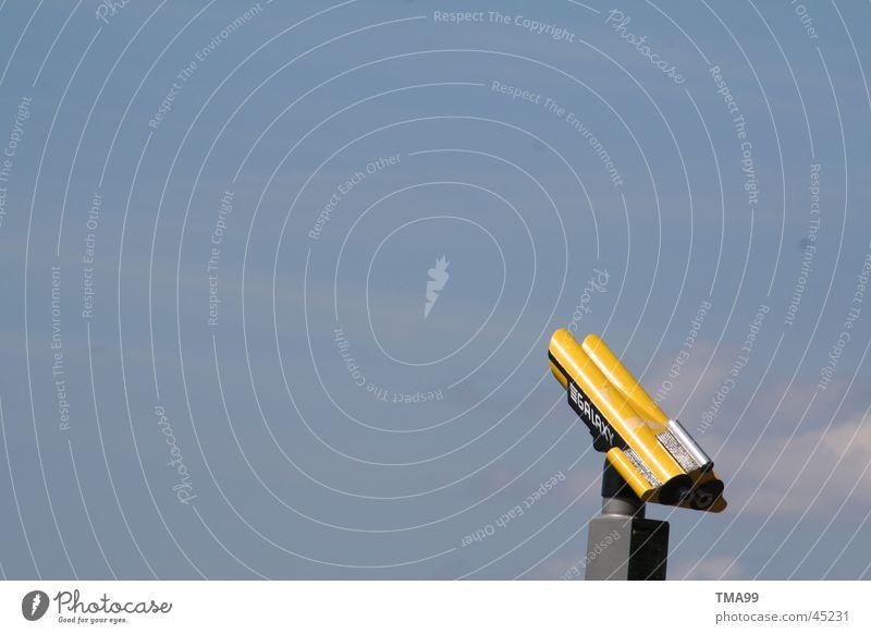 you're looking. Binoculars Far-off places Sky Blue Looking Blue sky