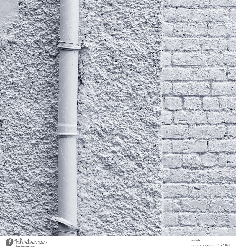 pipe Living or residing House (Residential Structure) Building Architecture Wall (barrier) Wall (building) Esthetic White Brick wall Pipe Painted