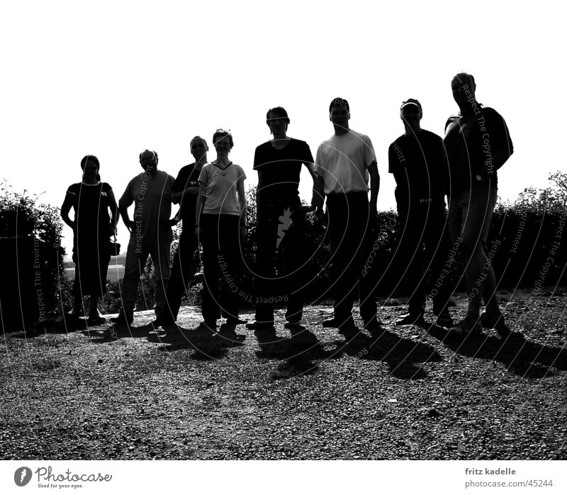 tengerin doo Back-light Group Black & white photo
