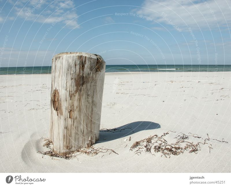 Beach Zingst 2003 Wooden board Ocean Vacation & Travel Wide angle Sand Relaxation