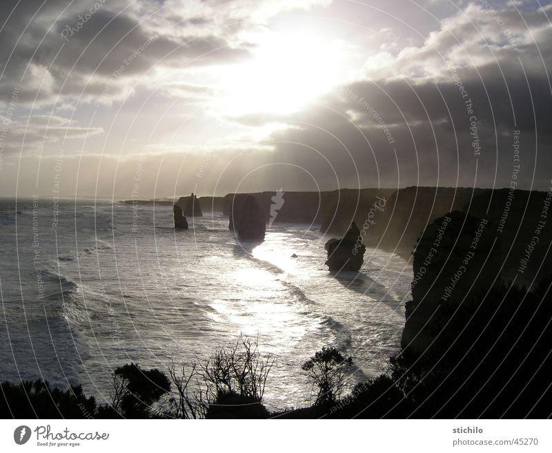 12 Apostles Australia Ocean Cliff Sunbeam Great Ocean Road Australia + Oceania