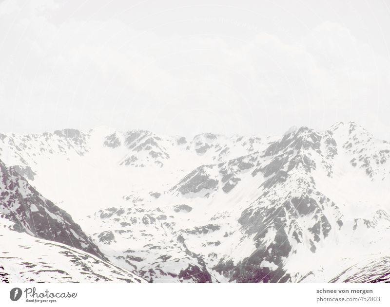 white ice mountain Far-off places Snow Mountain Climbing Mountaineering Ski run Landscape Air Sky Horizon Storm Wind Fog Ice Frost Snowfall Alps Peak