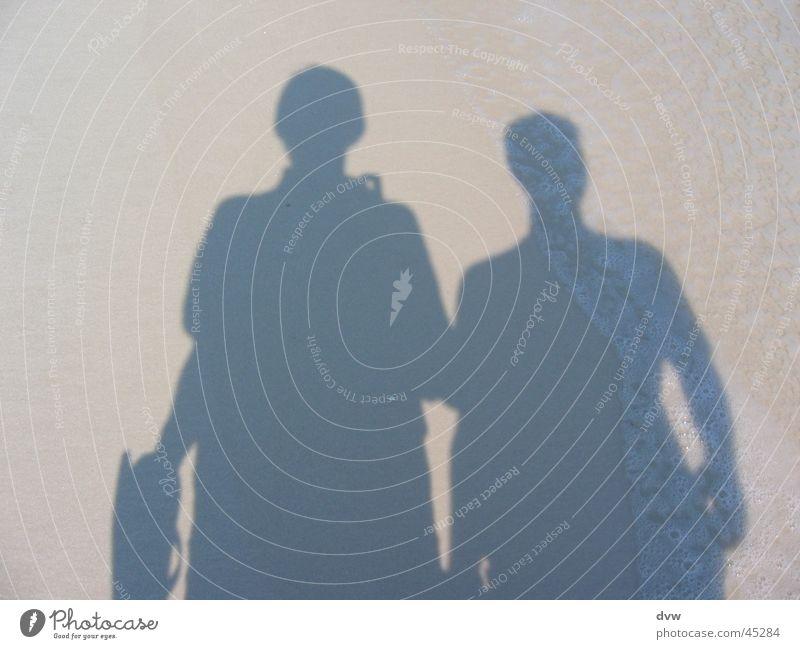 shadow men Shadow play Pensacola Beach Self portrait Physics Ocean Waves Man white sand Sun Warmth