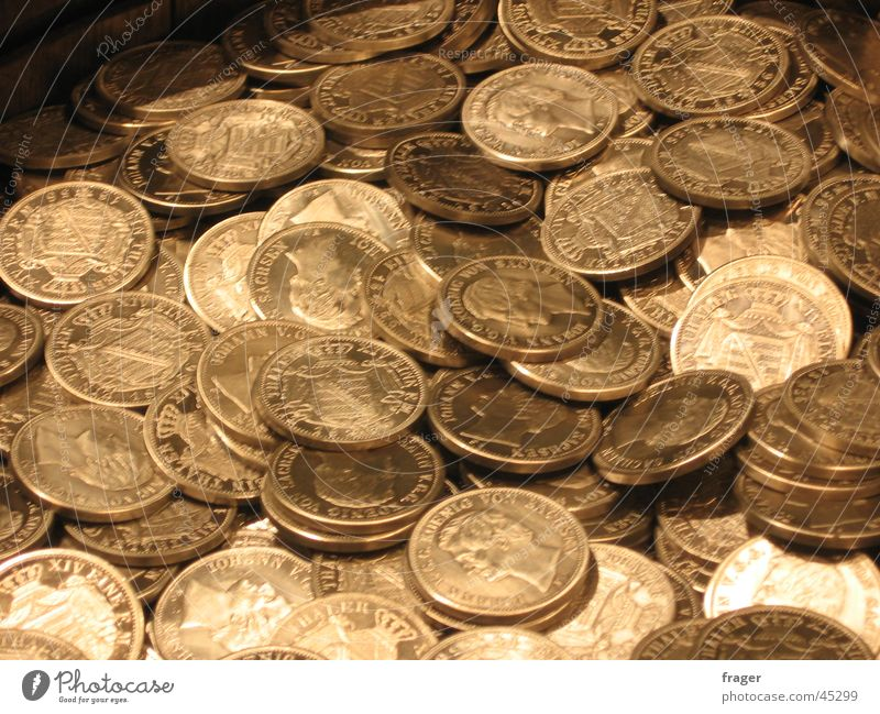 Coins / Money Taler Old coins Financial transaction Things Saxon thaler pile of money monet cash