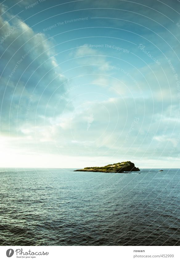 island Environment Nature Landscape Water Sky Clouds Coast Ocean Island Free Yachting Navigation Far-off places Blue Horizon Colour photo Exterior shot Deserted
