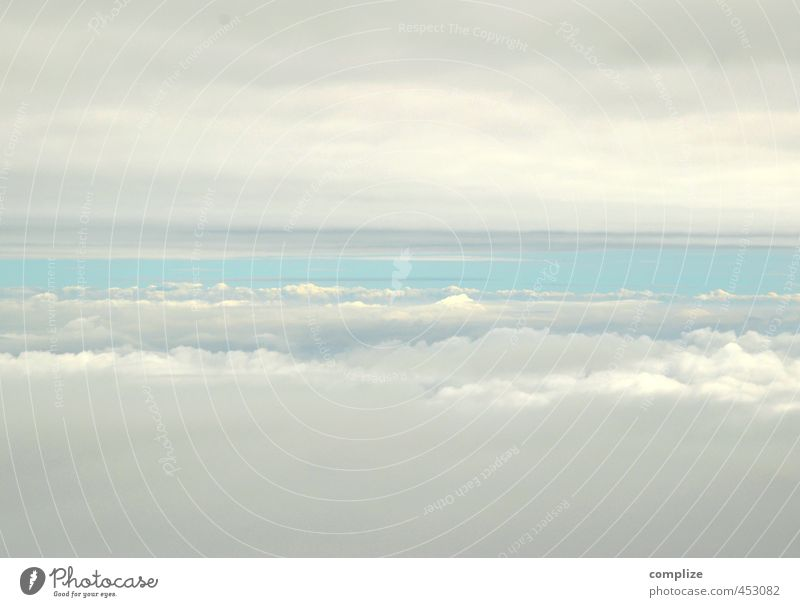 Sky Vacation & Travel Blue Heaven Summer Clouds Far-off places Environment Religion and faith Air Aviation Airplane Stripe Infinity Target Heavenly