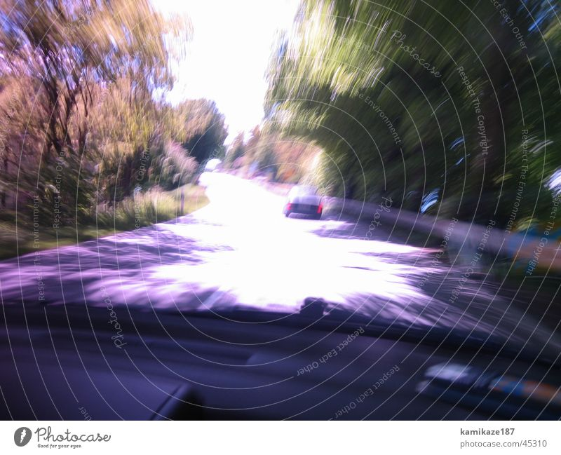 Colour Transport Speed In transit Distorted Country road
