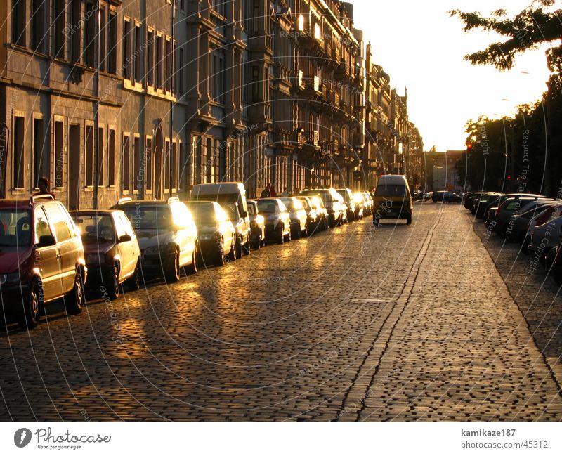 evening mood Sunset Dresden Neustadt Calm Architecture Gold