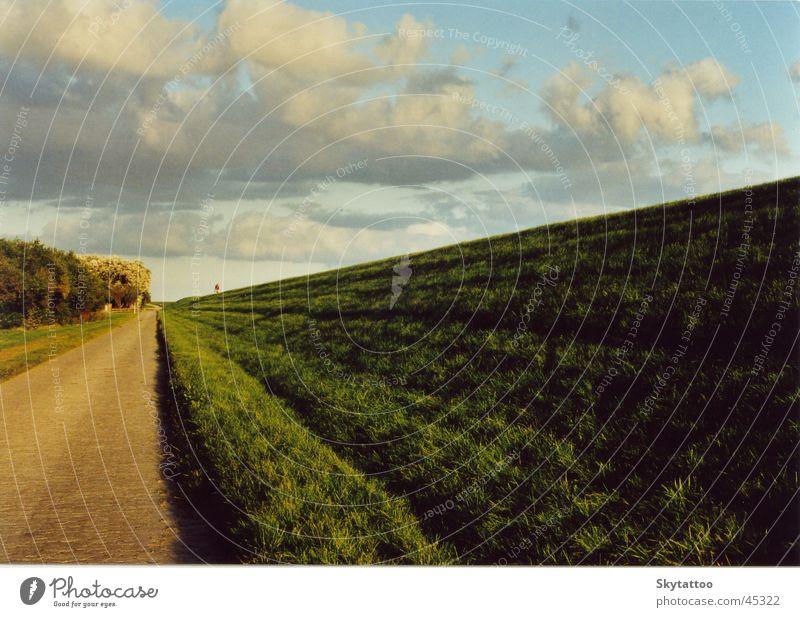 Clouds Far-off places Grass Lanes & trails Landscape Future Infinity Dike