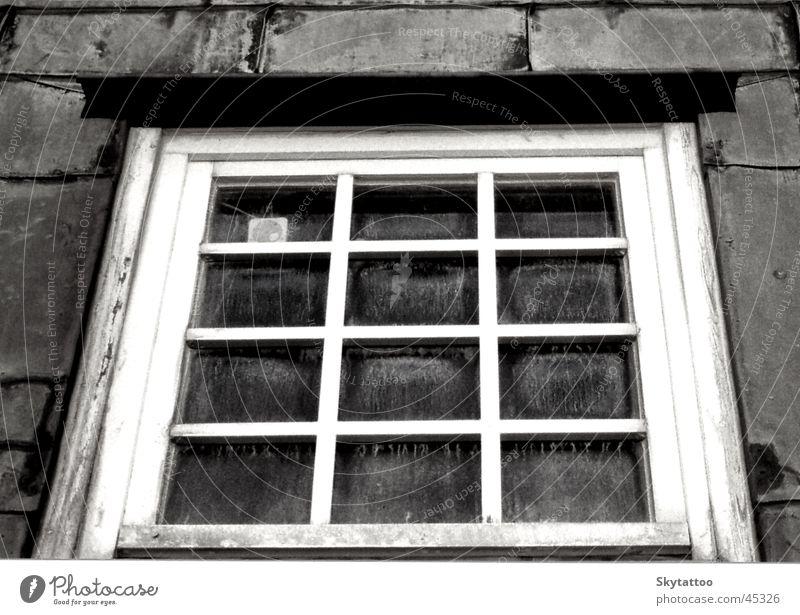 White Black Window Gray Glass Historic Wooden window