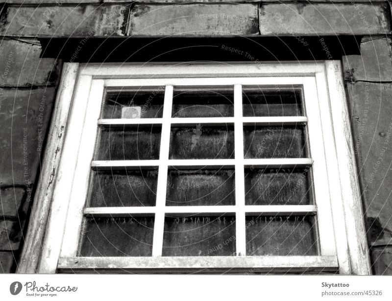 White Black Window Gray Glass Historic Wooden window
