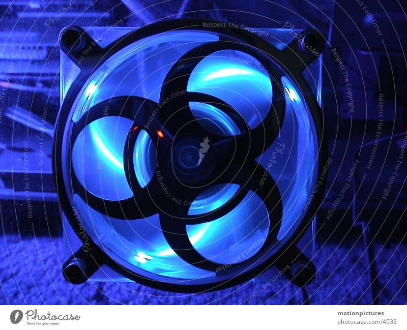 cool lifter Computer Ventilation Refrigeration Electrical equipment Technology Blue LED PC fan Cold