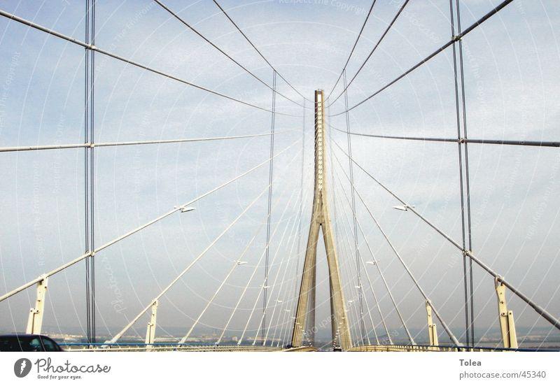 Pont de Normandie Checkmark Suspension bridge Bridge Graffiti Gate