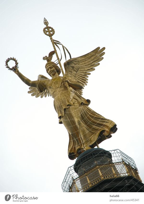Berlin Architecture Angel Nike Victory column Bronze sculpture