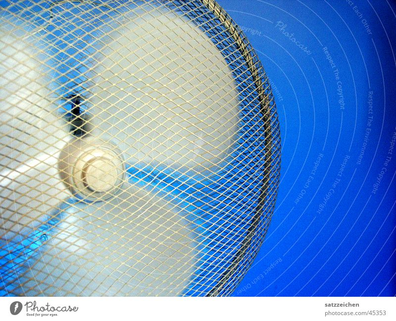 White Blue Style Movement Air Electricity Things Reaction Rotation Rotor Fan