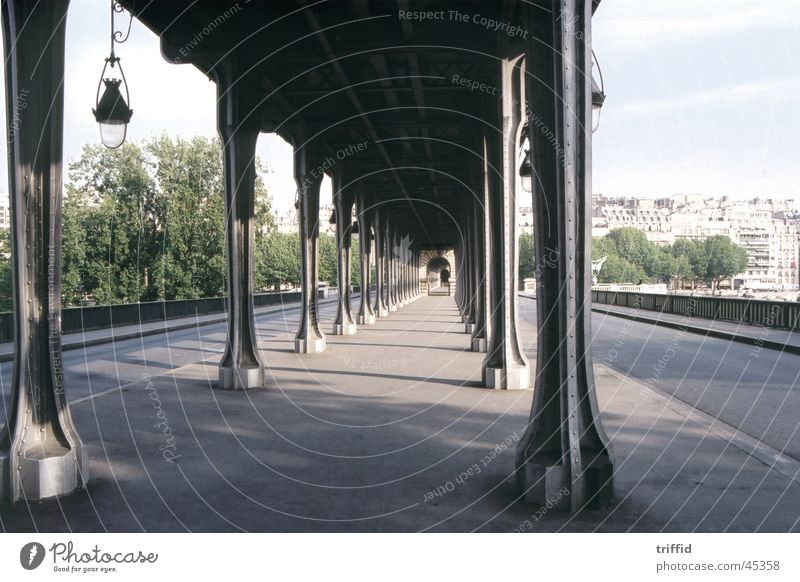 Paris France Railroad Bridge Street