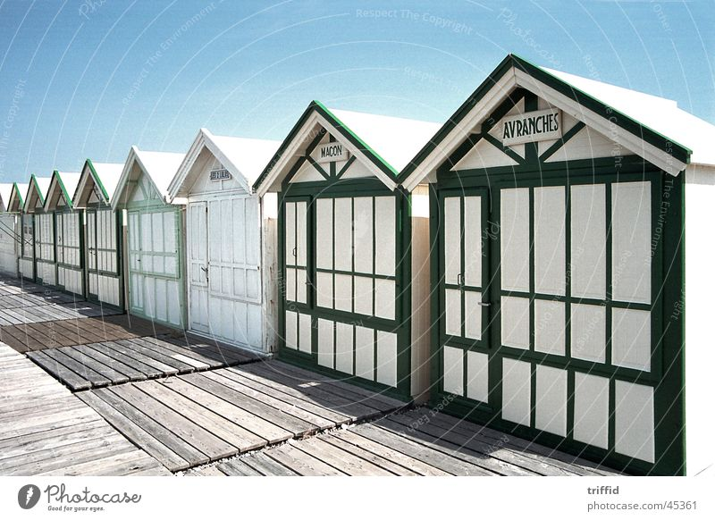 Ocean Summer Vacation & Travel Europe Atlantic Ocean France Normandie Beach hut