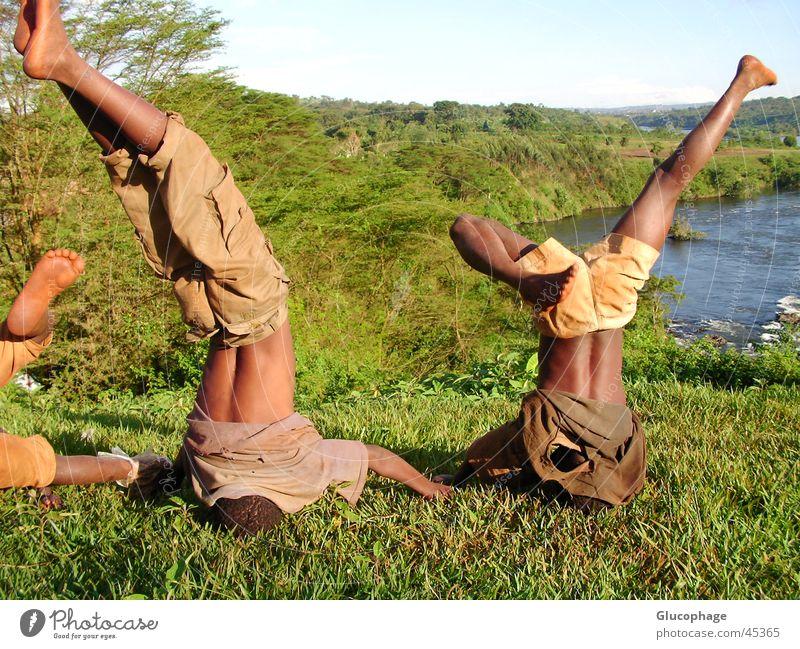 exuberance Africa Child Go crazy Gymnastics Kenya Boy (child) Exuberance Black Joy Recklessness Enthusiasm Life Happiness Leisure and hobbies Romp Passion