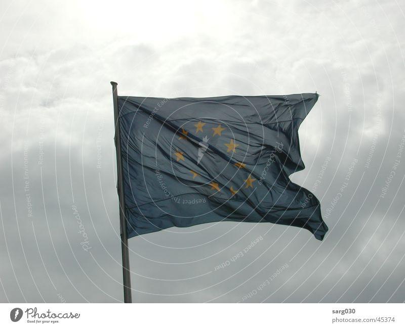 Sky Blue Clouds Europe Star (Symbol) Flag Leisure and hobbies