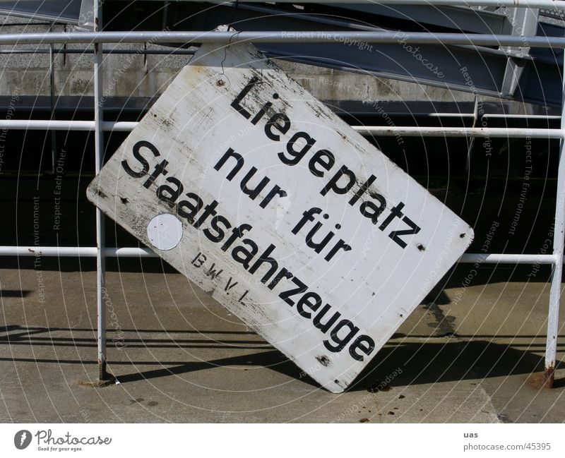 Hamburg harbour, bizarre sign Obscure Signs and labeling vehicles Harbour
