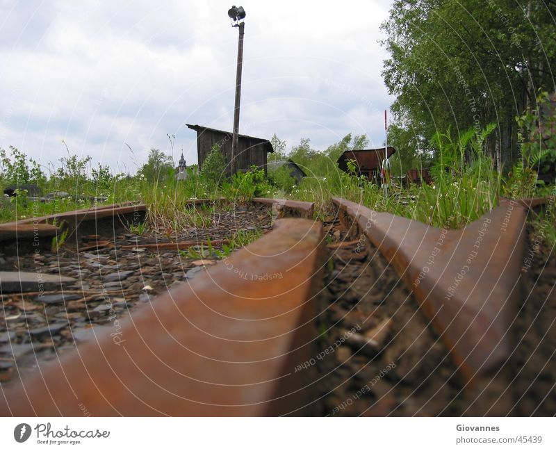 Sadness Transport Railroad Grief Railroad tracks Decline Rust GDR Mining
