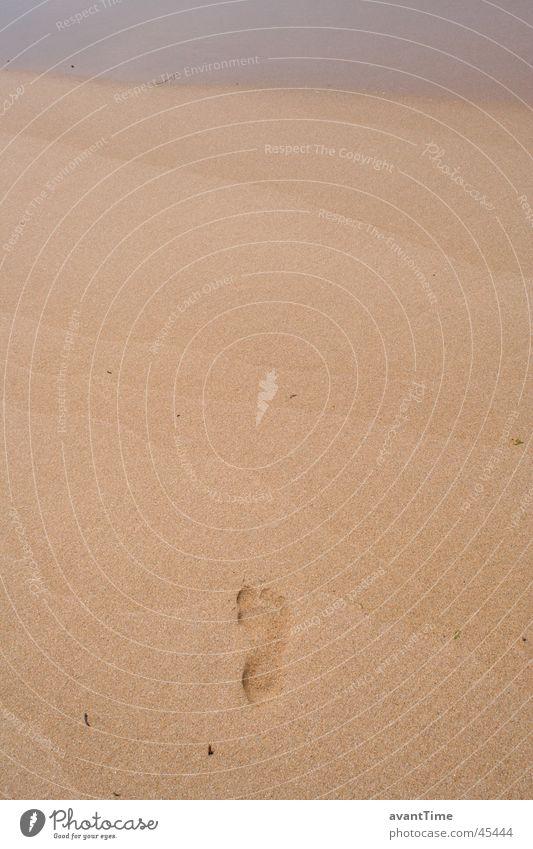 footprint Ocean Feet Sand Lanes & trails Stride Detail