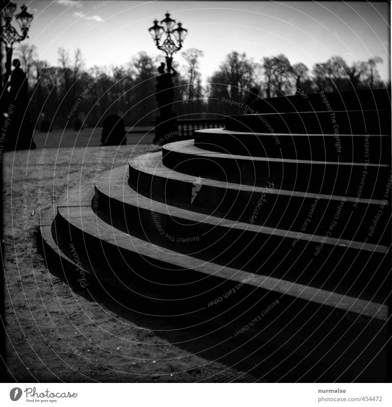 to the birthday, stairs up, all good PC House building Jogging Art Environment Park Potsdam Town Deserted Palace Castle Ruin Stairs Tourist Attraction Landmark