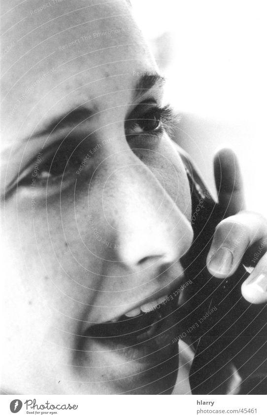The b/w portraits I Blur Telephone Portrait photograph Near Cuba Woman Feminine Black & white photo Macro (Extreme close-up) To call someone (telephone)