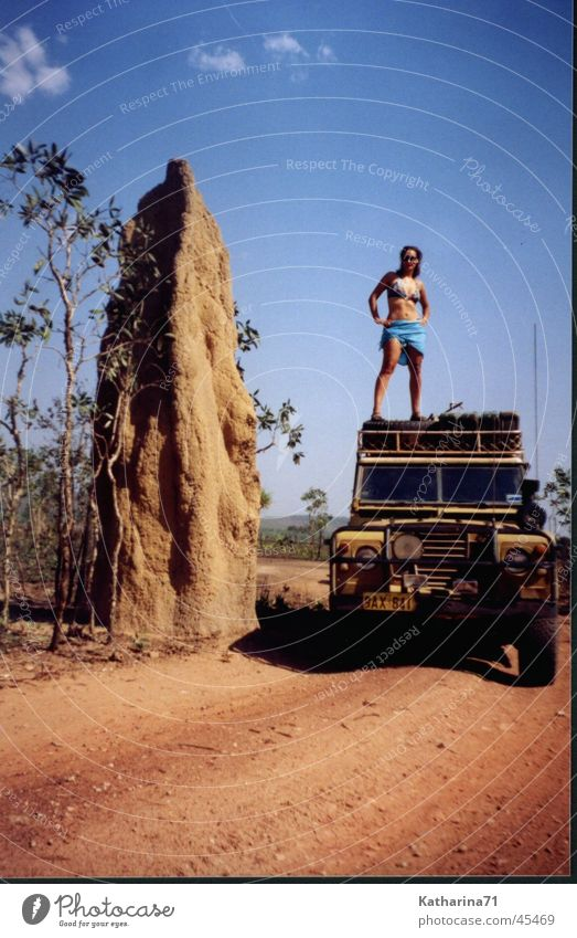 Australia Termites' nest Offroad vehicle Bikini land rover Vacation & Travel travelling