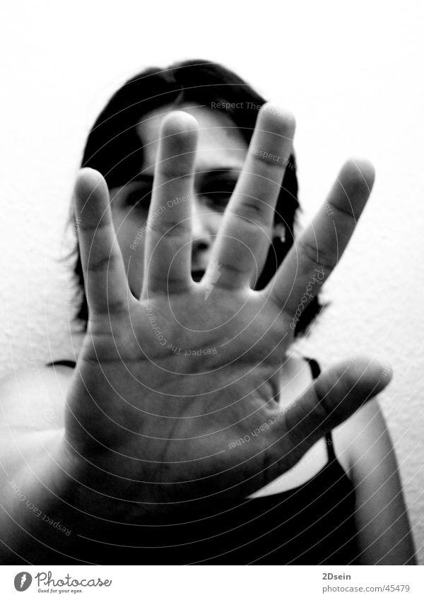 gap Woman Hand Gap Black & white photo Cancelation Close-up