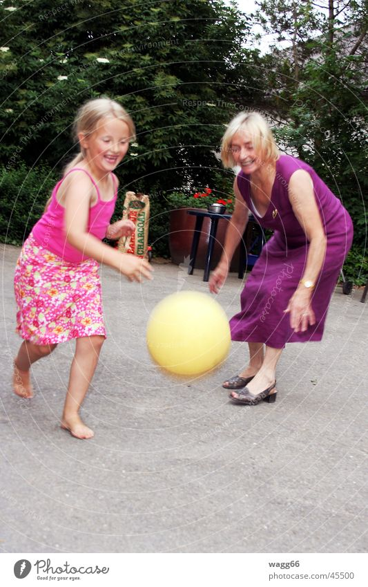 Catch the ball Ball sports Family & Relations Playing Laughter happy Garden