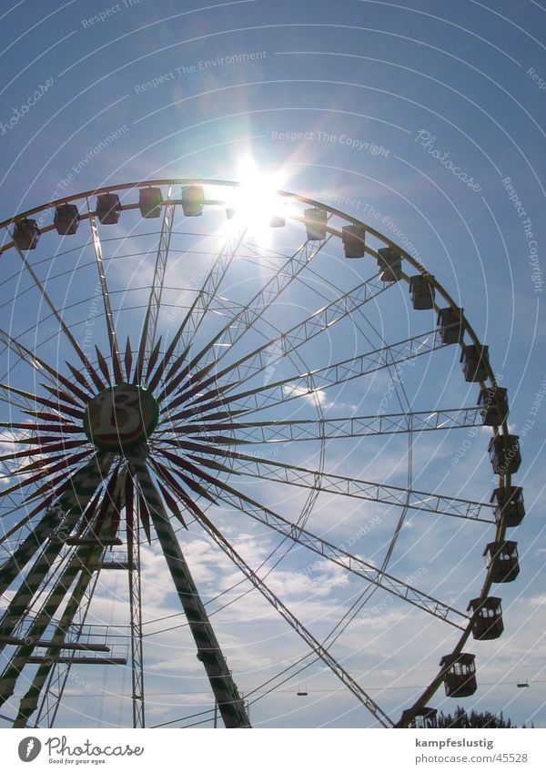 B=meins Summer Fairs & Carnivals Ferris wheel July Leisure and hobbies Sun Sky