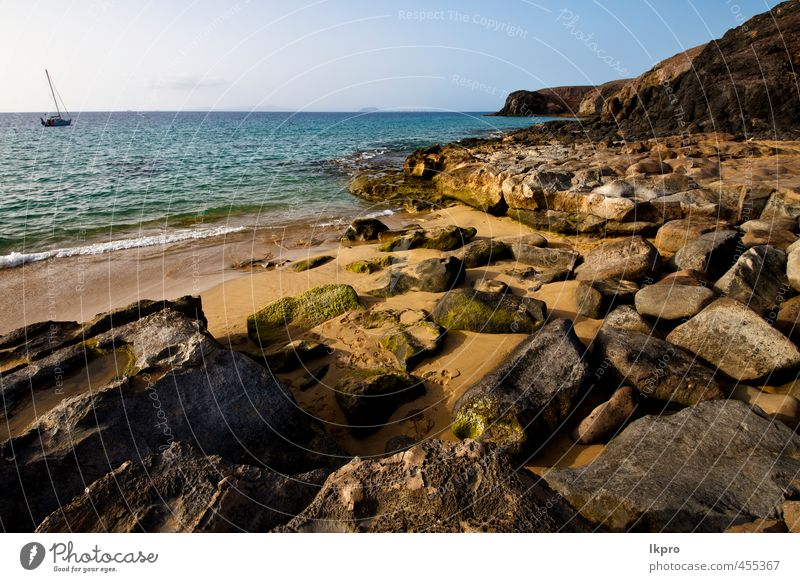 and summer in lanzarote spain Relaxation Vacation & Travel Tourism Trip Summer Beach Ocean Island Waves Sailing Nature Landscape Sand Sky Clouds Hill Rock Coast