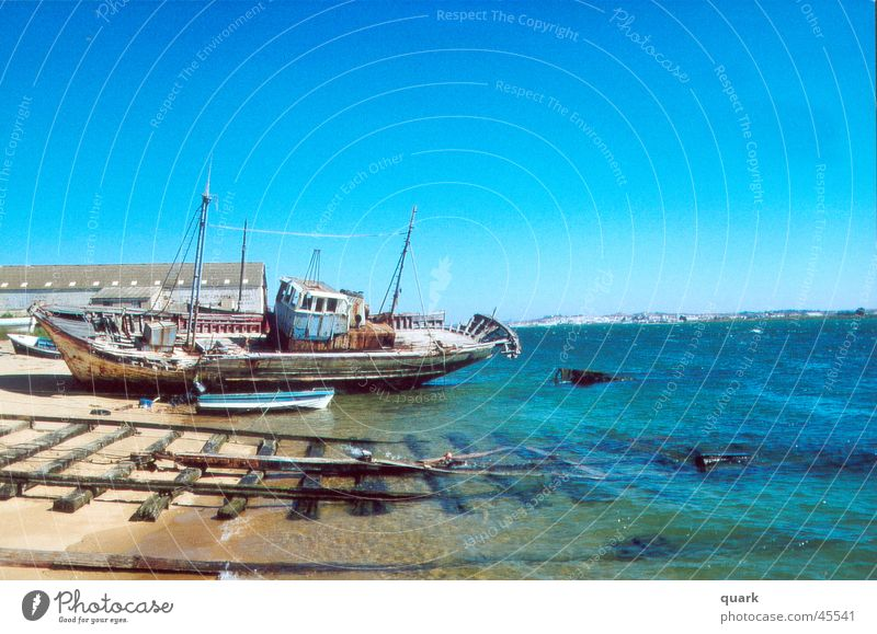 ship Ocean Watercraft Summer Beach Navigation old ship Blue sky