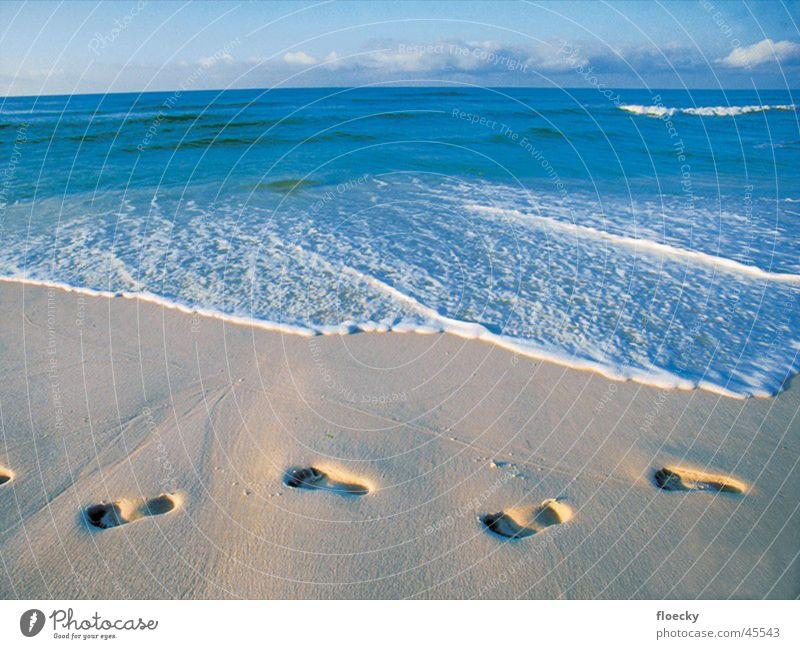 beach Footprint Barefoot