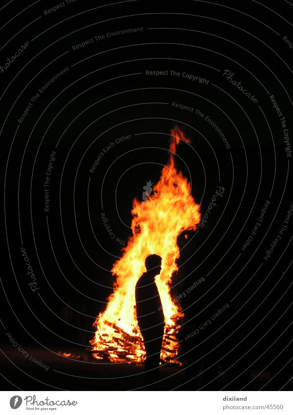 Human being Man Blaze Fireplace