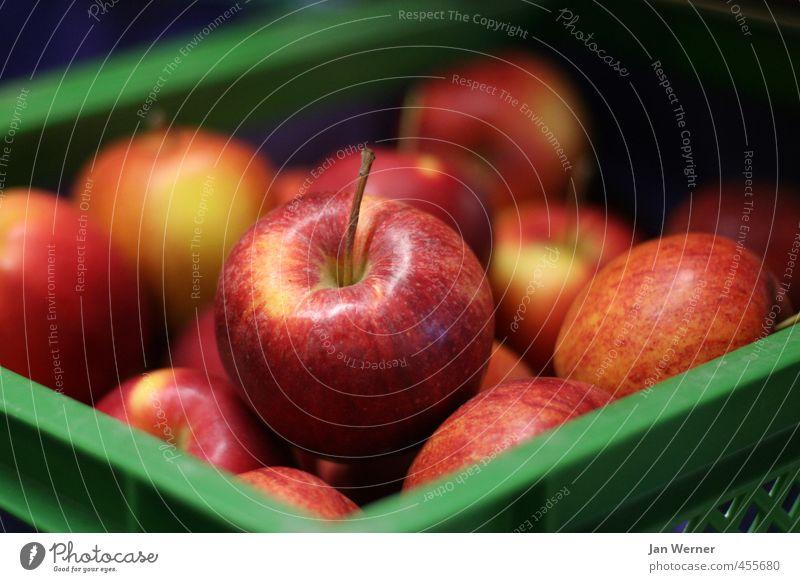 An apple a day ... Food Fruit Apple apple variety topaz Braeburn Altes Land Apple skin Apple stalk Fruit trees Fruit basket Fruit store